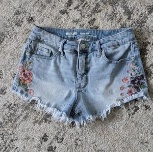 Mossimo High Rise Distressed Cutoff Jean Shorts